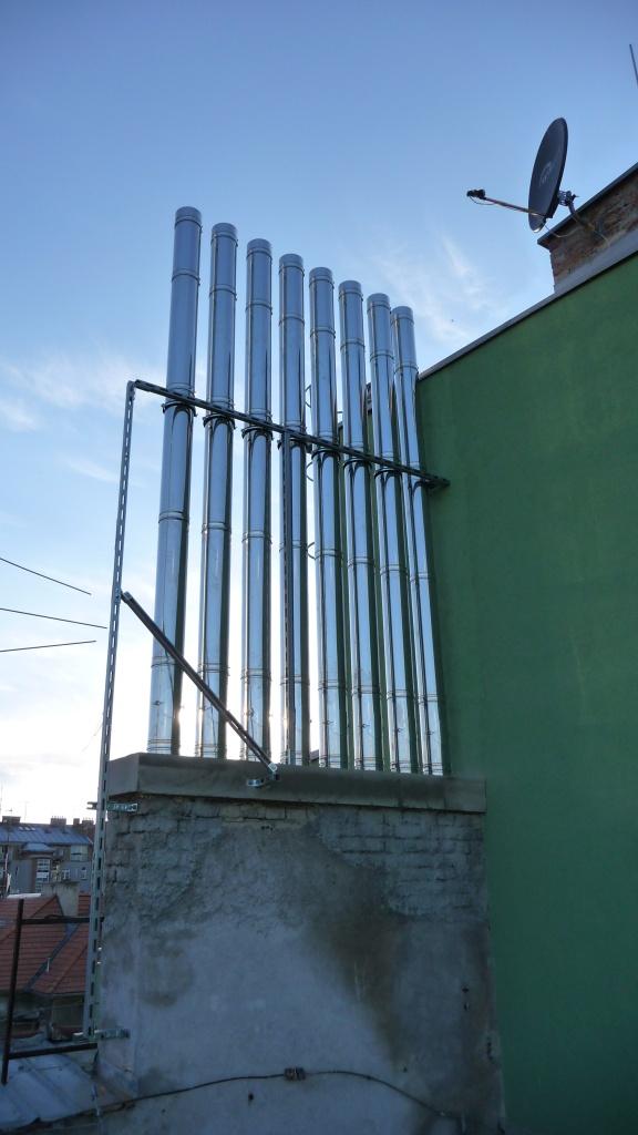 naše nerezové varhany-Bytový dům Brno