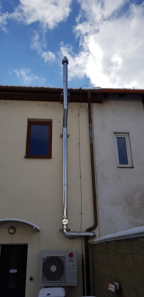 společný komín pro dva kondenzační kotle-Brno-KOMINEX